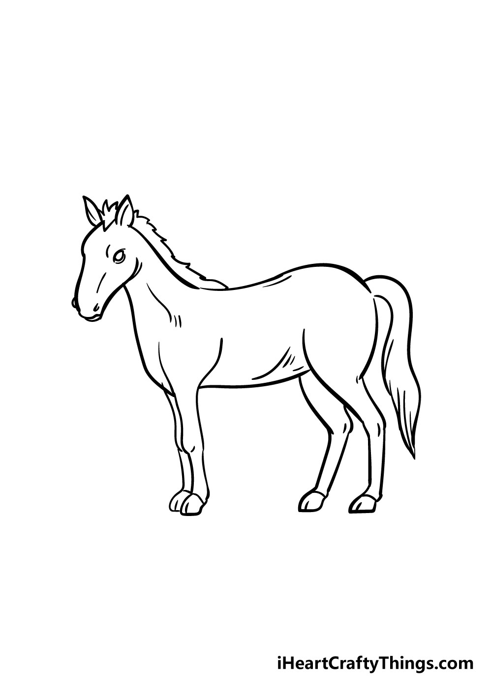 horse drawing step 8