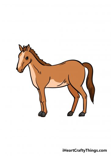 how to draw a horse image