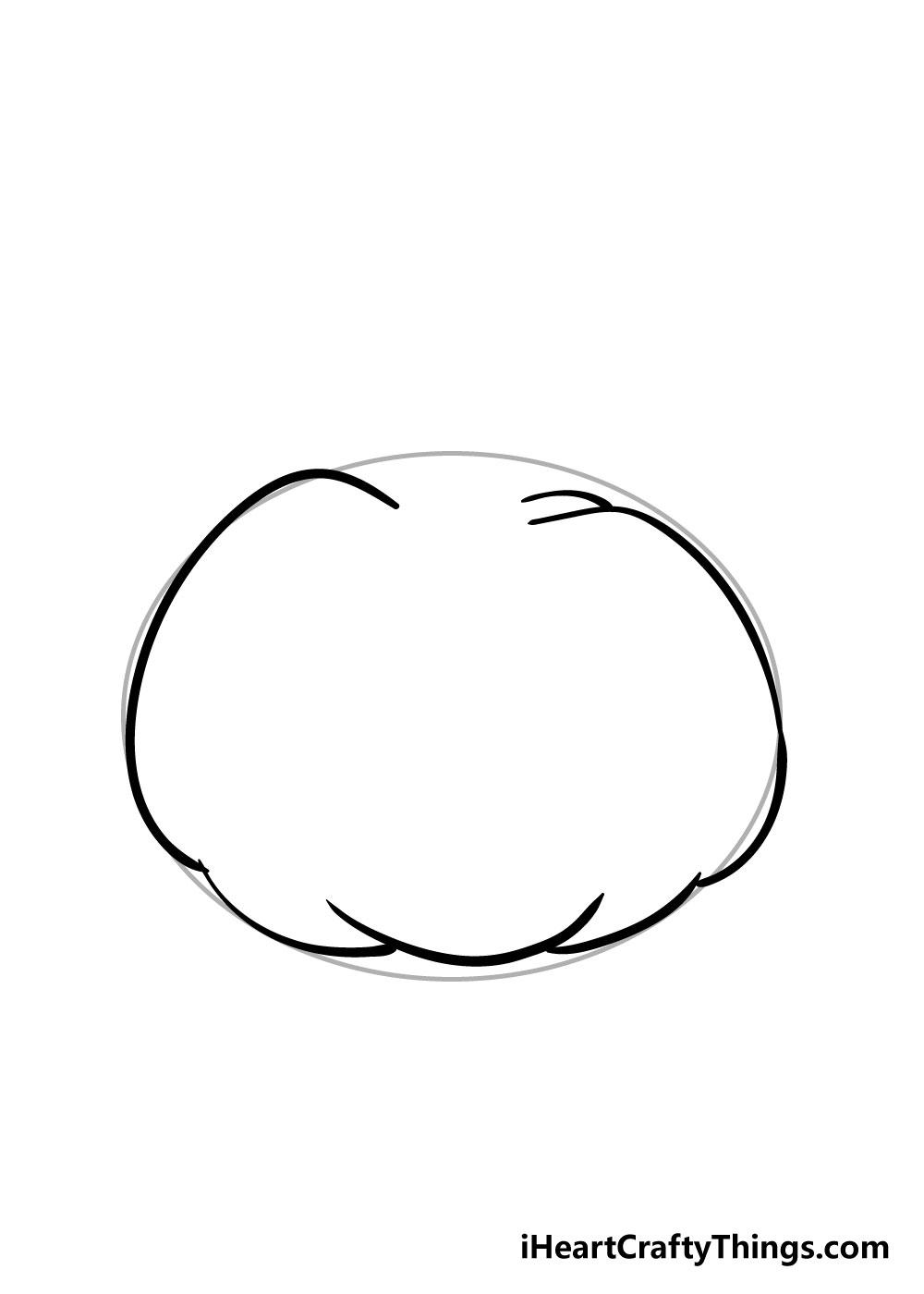pumpkin drawing step 2