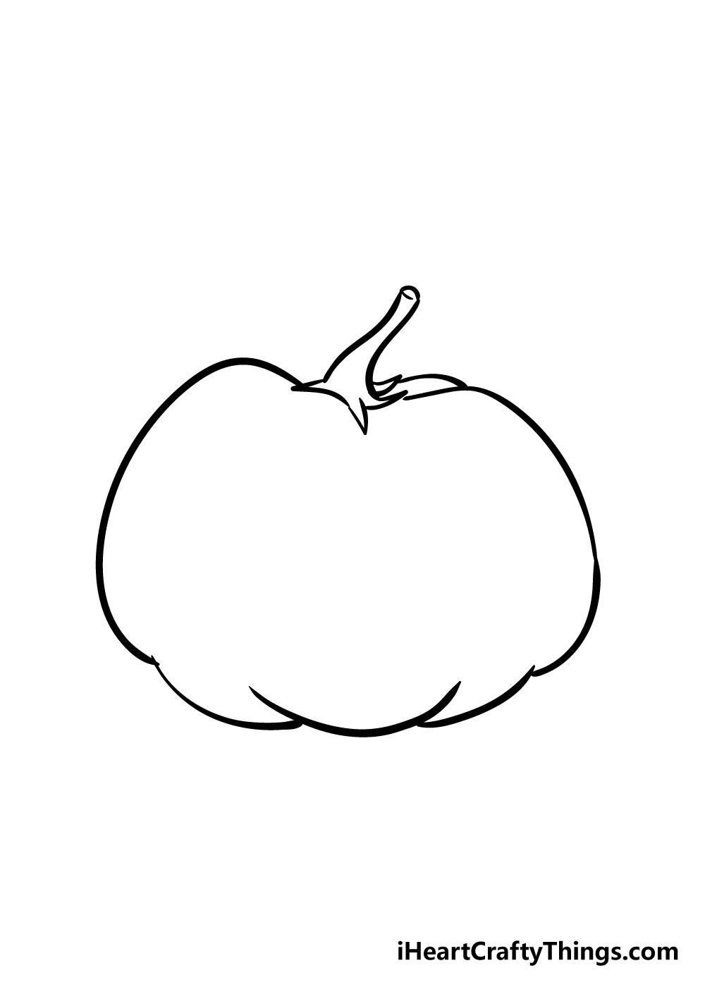 pumpkin drawing step 4