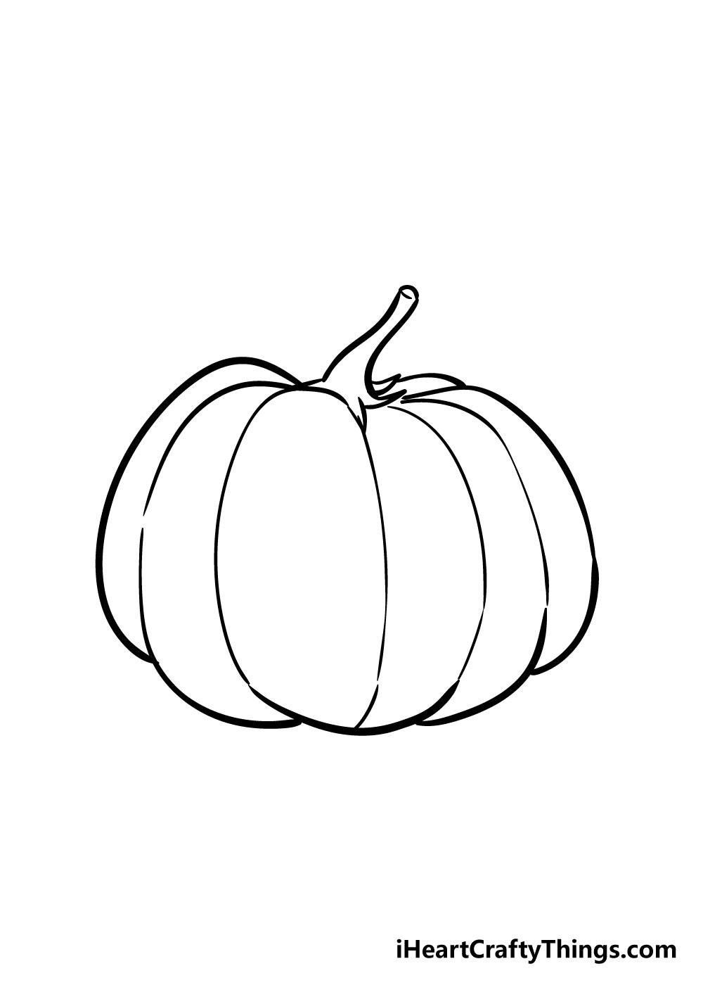 pumpkin drawing step 5