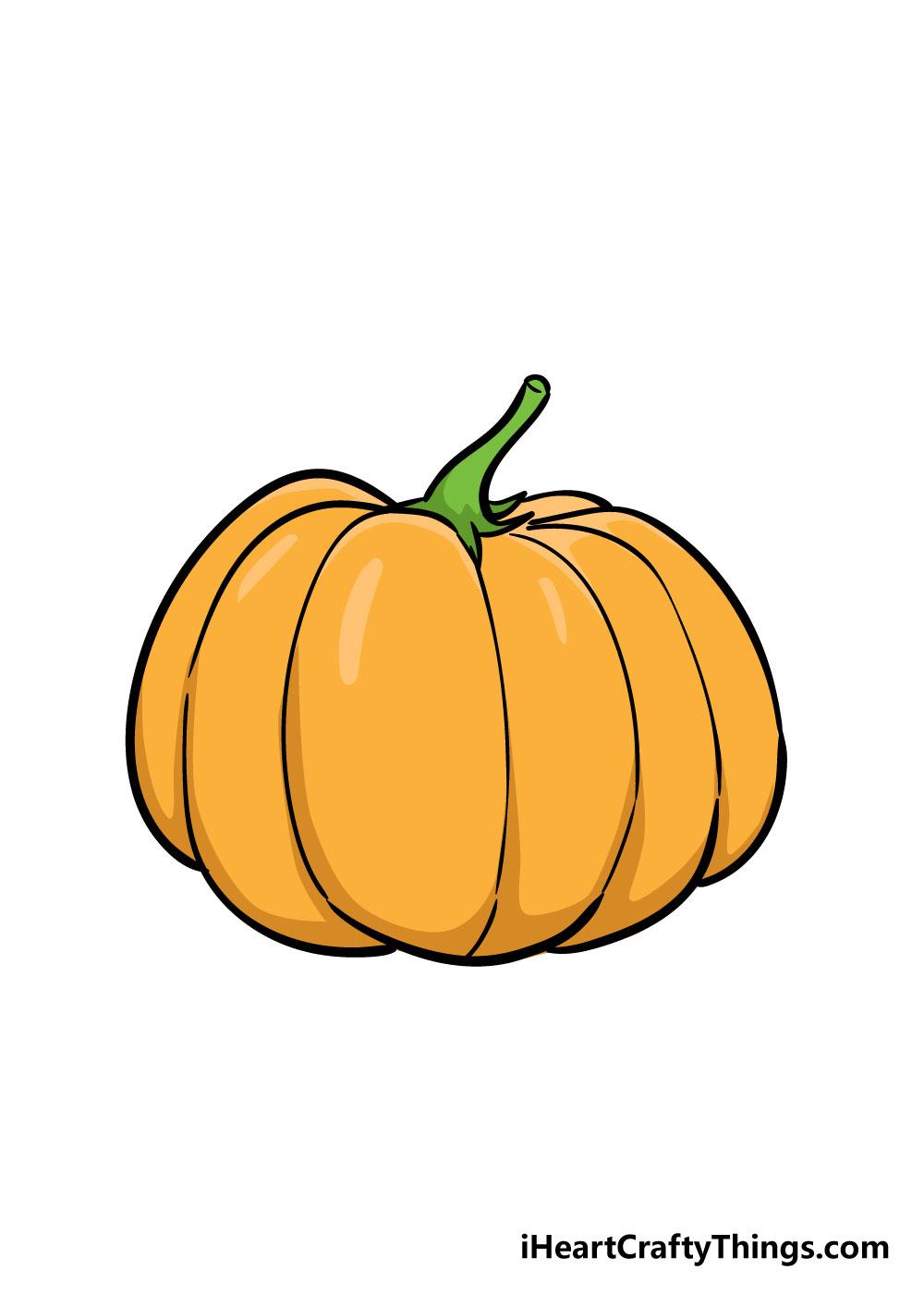 pumpkin drawing step 6