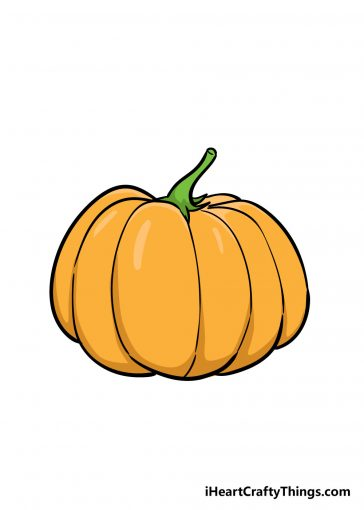 how to draw pumpkin image