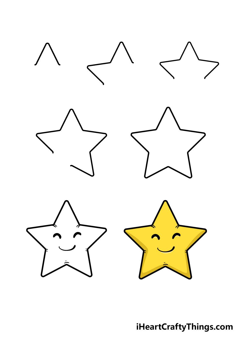 cách vẽ ngôi sao trong 7 bước