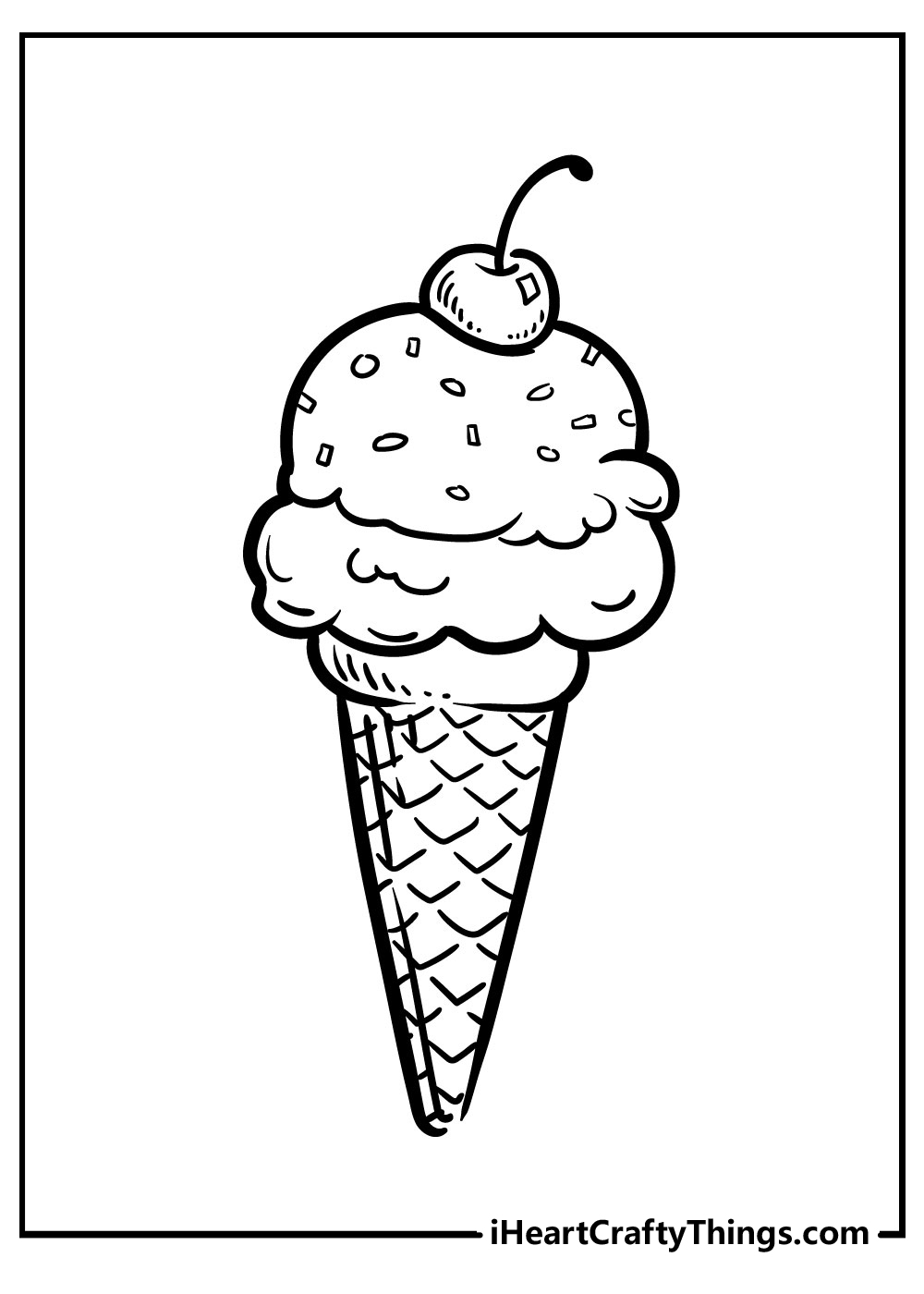 banana split ice cream coloring pages