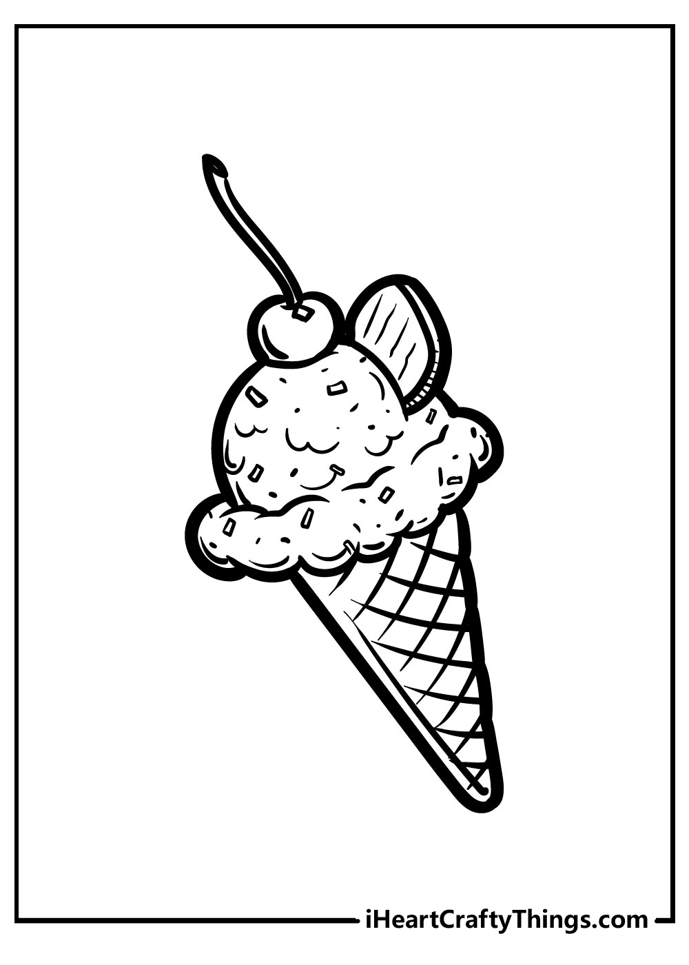 small printable ice cream coloring pages