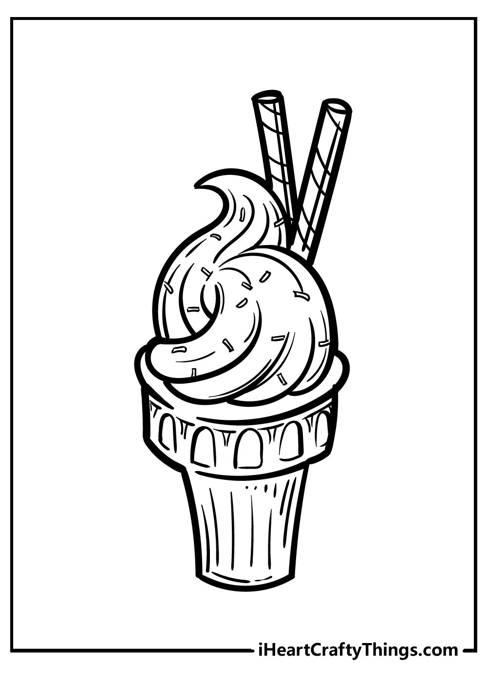 back to school ice cream coloring pages