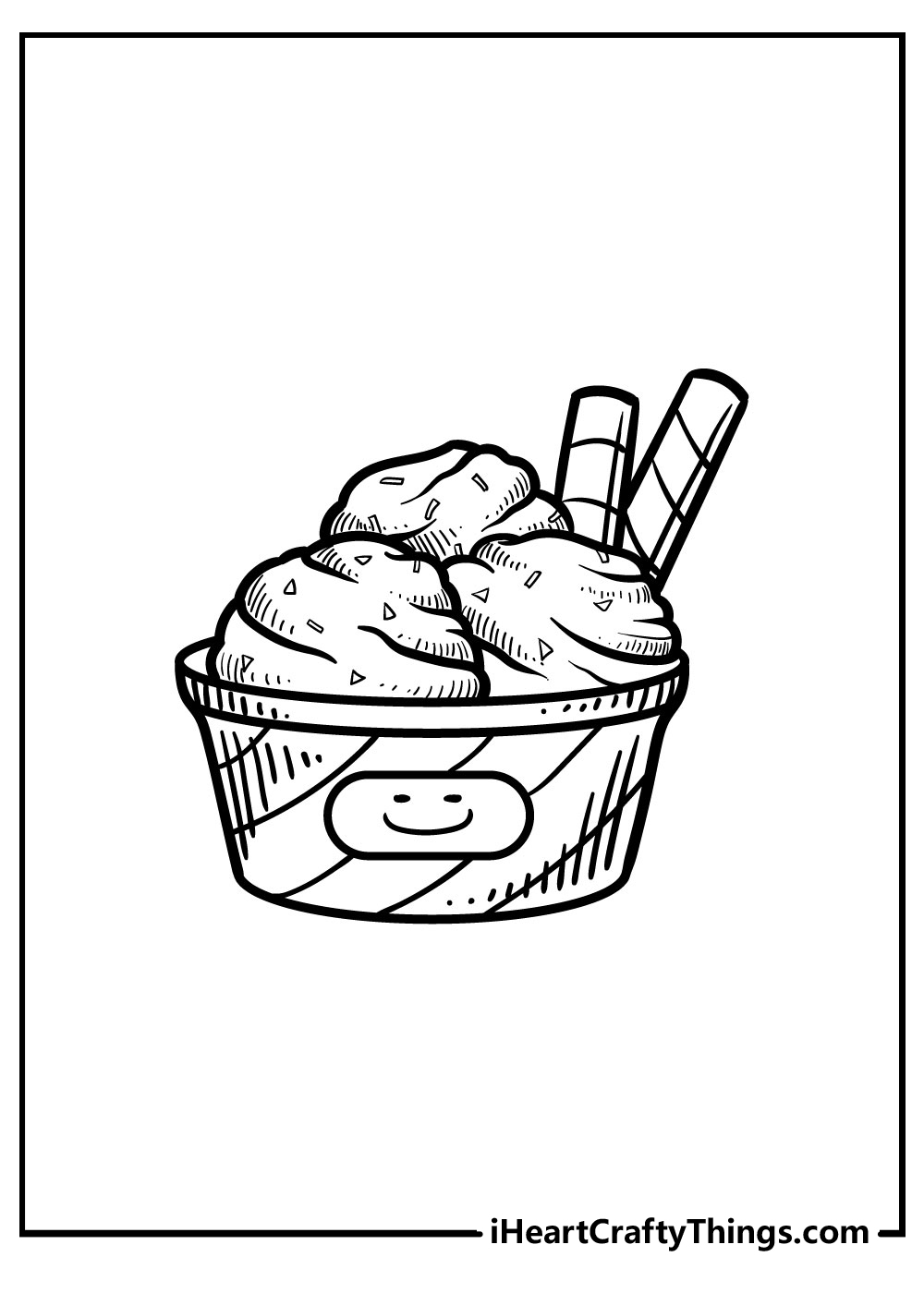 ice cream coloring pages for preschoolers