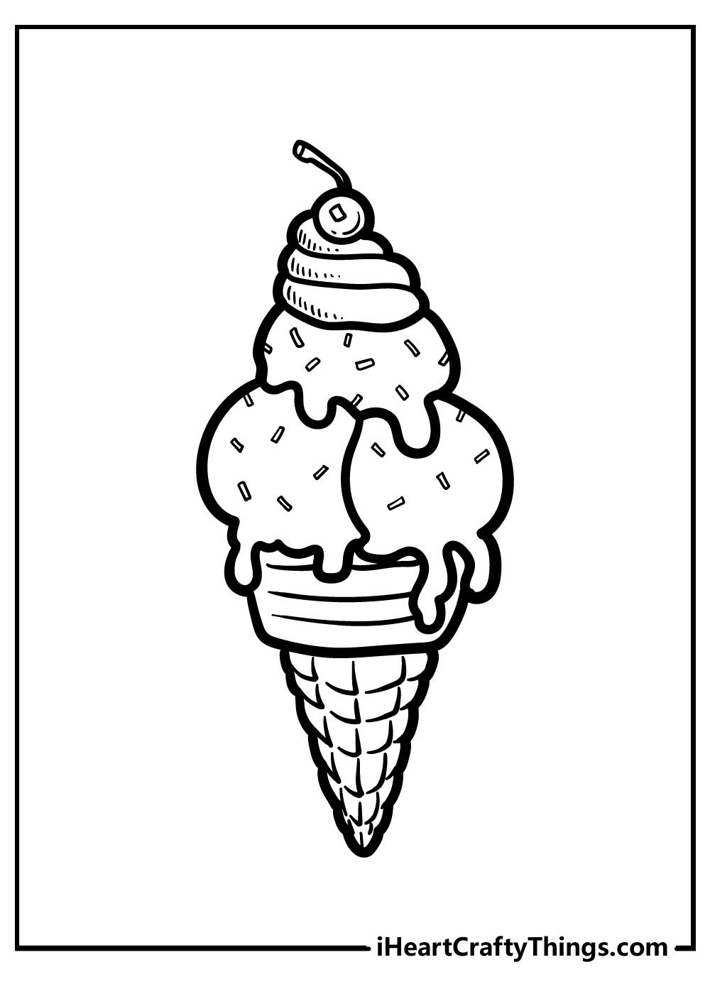cute ice cream coloring pages free download