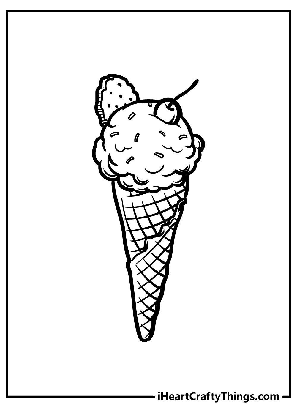 i love ice cream coloring pages