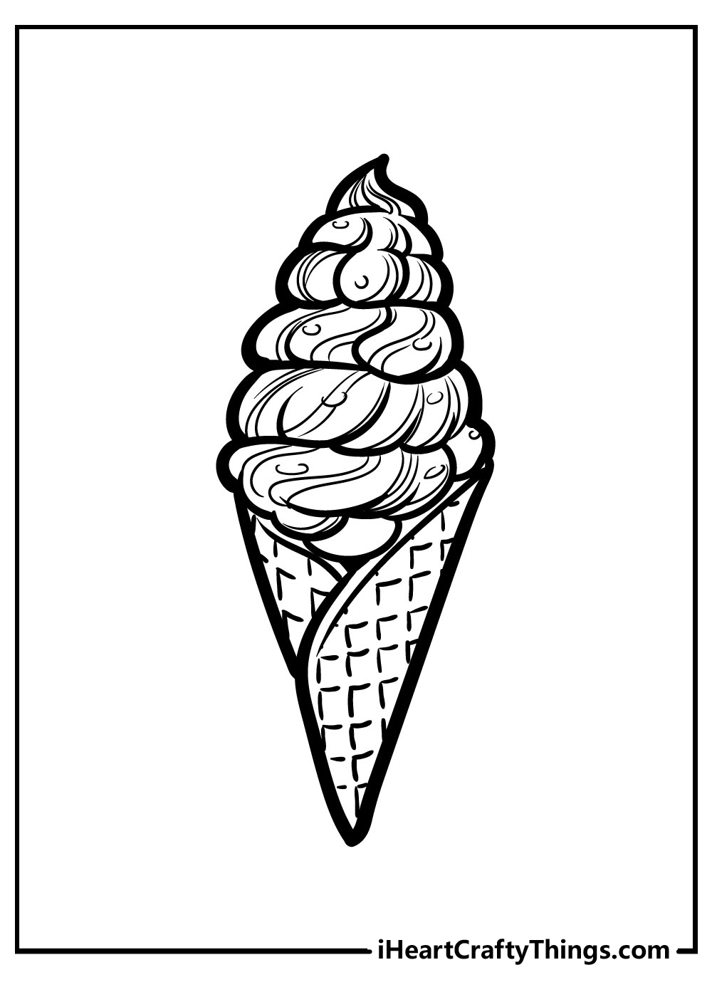 cute easy ice cream coloring pages free download
