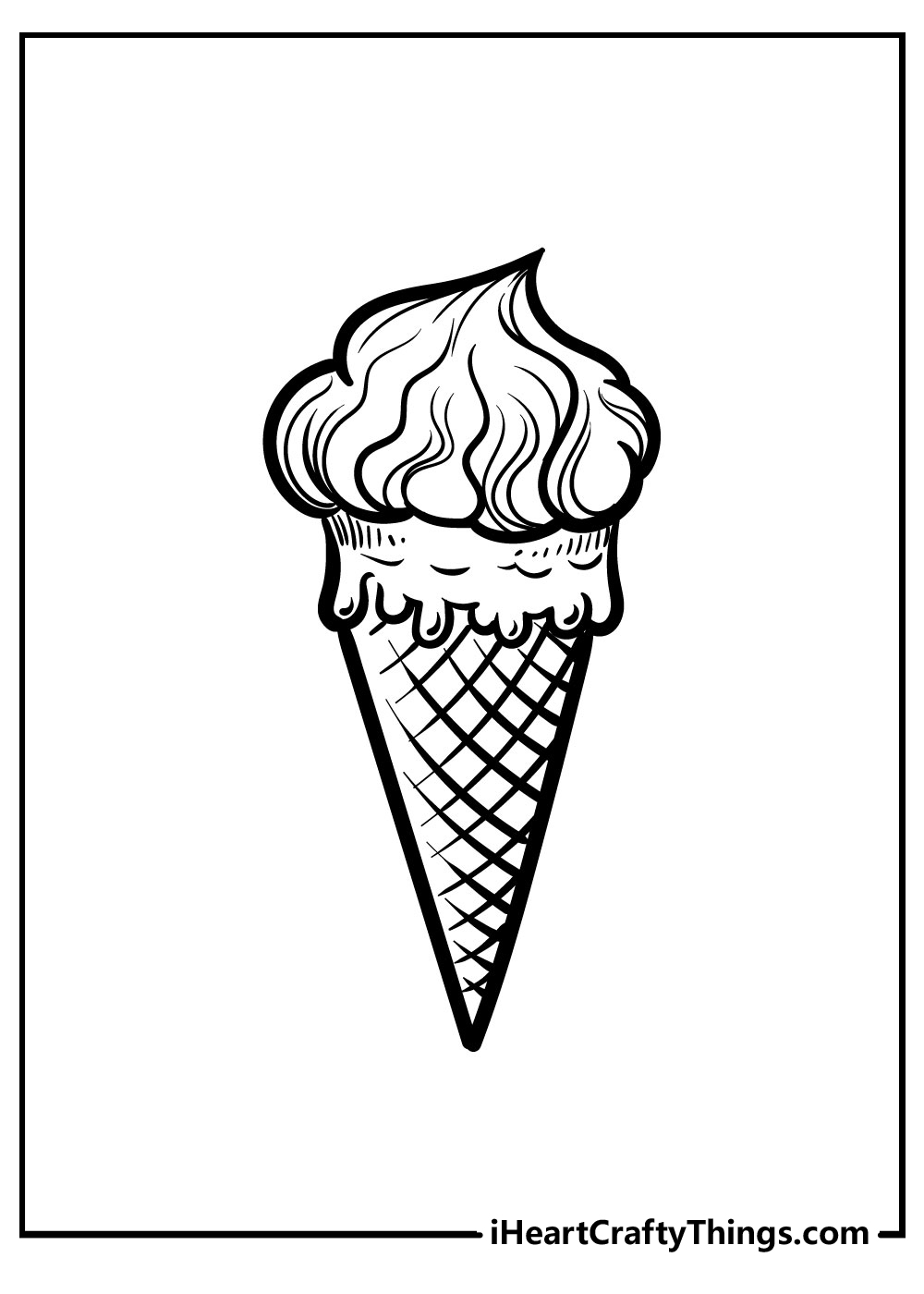 cute girls ice cream coloring pages