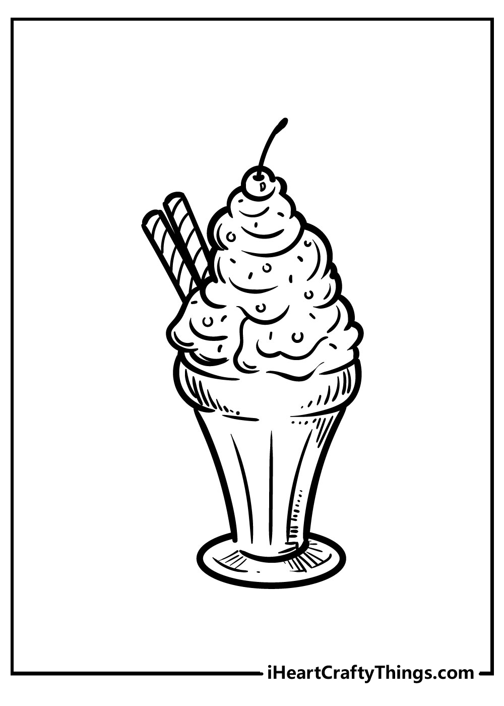 boy and girl with ice cream coloring pages