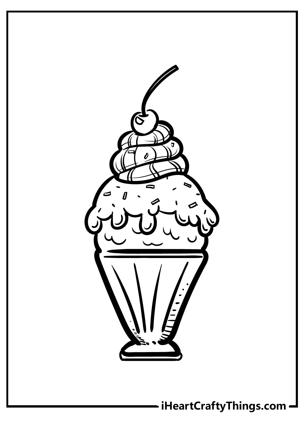 images of soft serve ice cream coloring pages