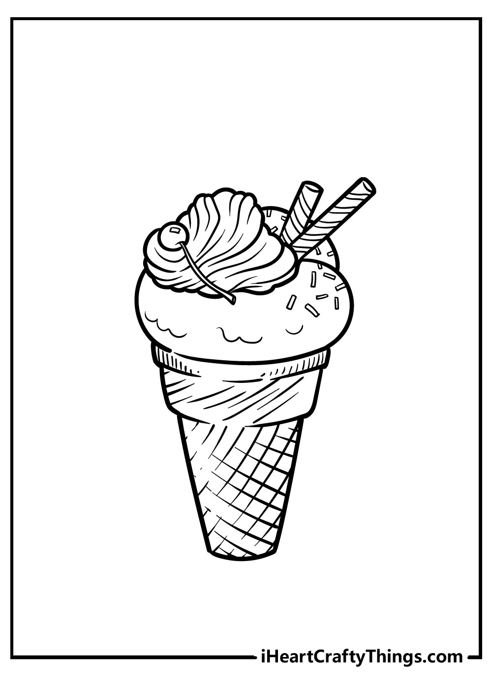 cartoon ice cream coloring pages free printable