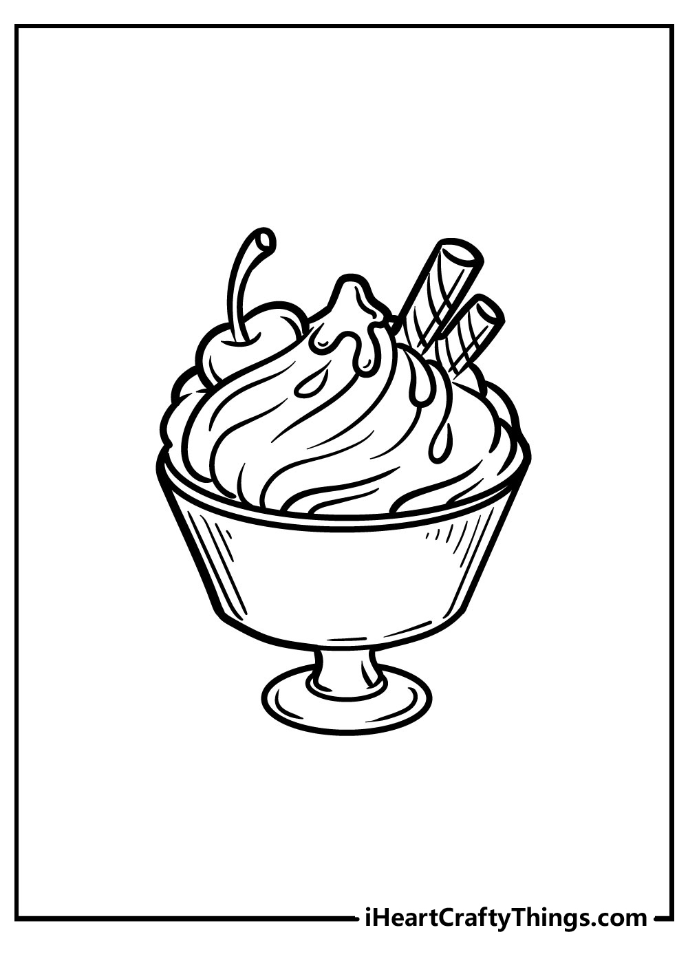 free printable ice cream coloring pages for preschool