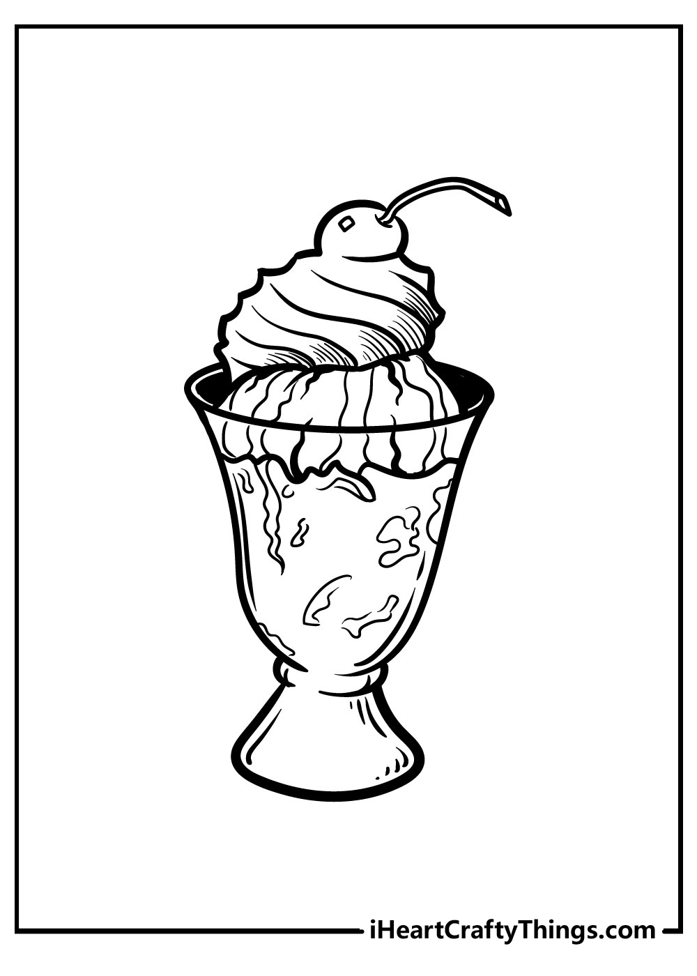 free printable ice cream coloring pages for girls