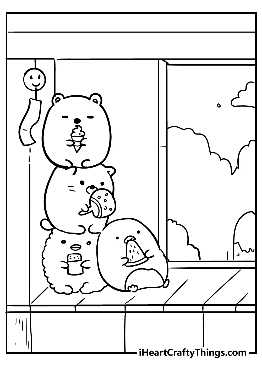 kawaii coloring pages mouse free download