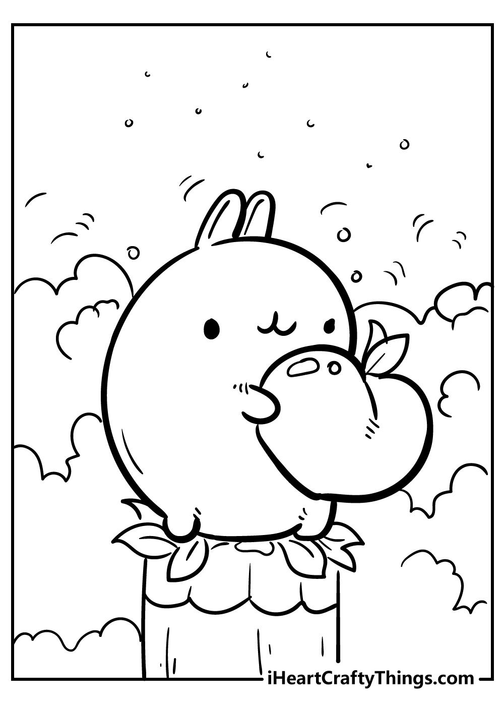 kawaii coloring pages of bunnies