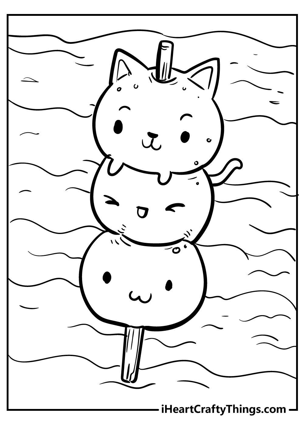 girly kawaii coloring pages free printable