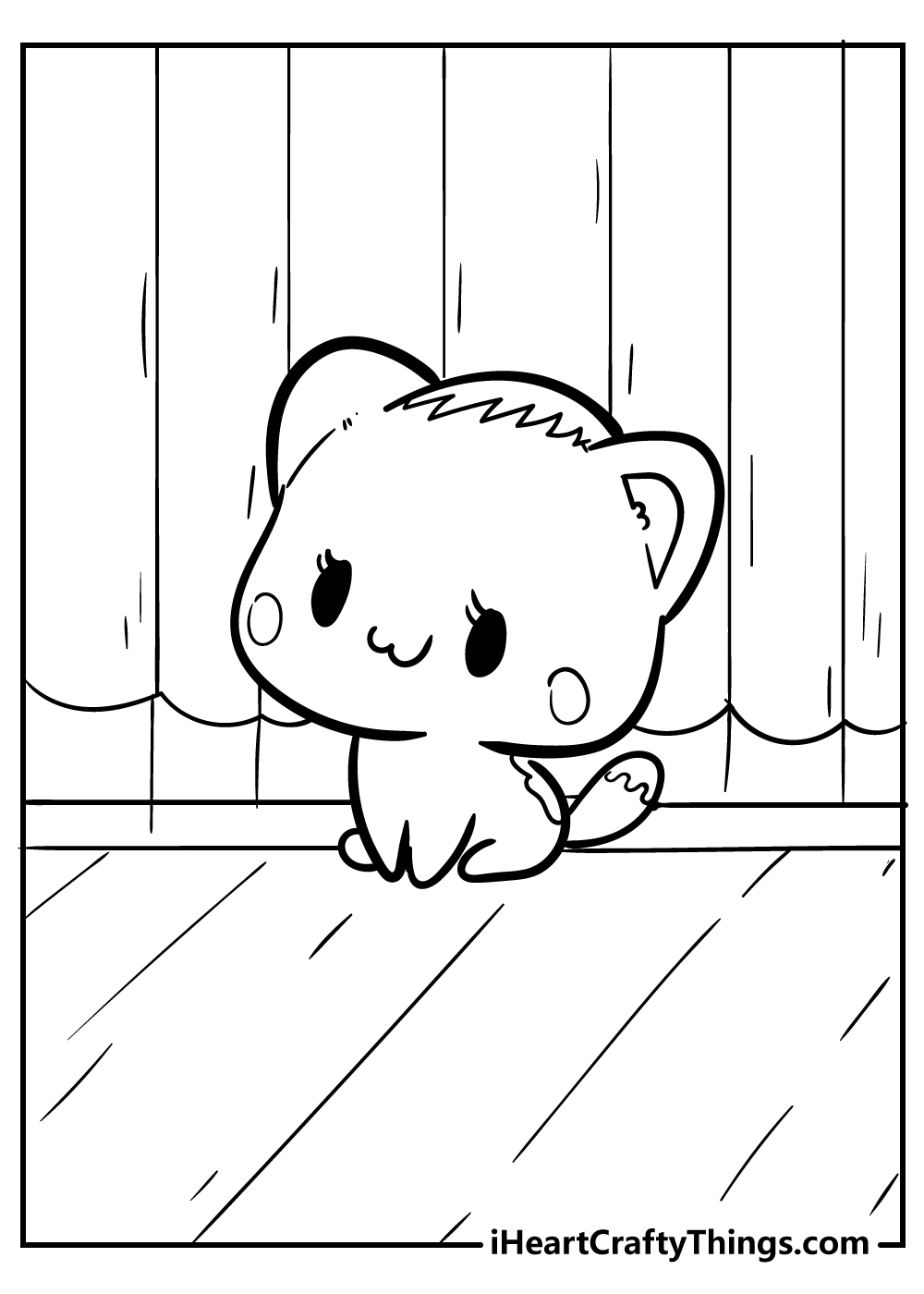 cool kawaii kitten coloring pages for kids