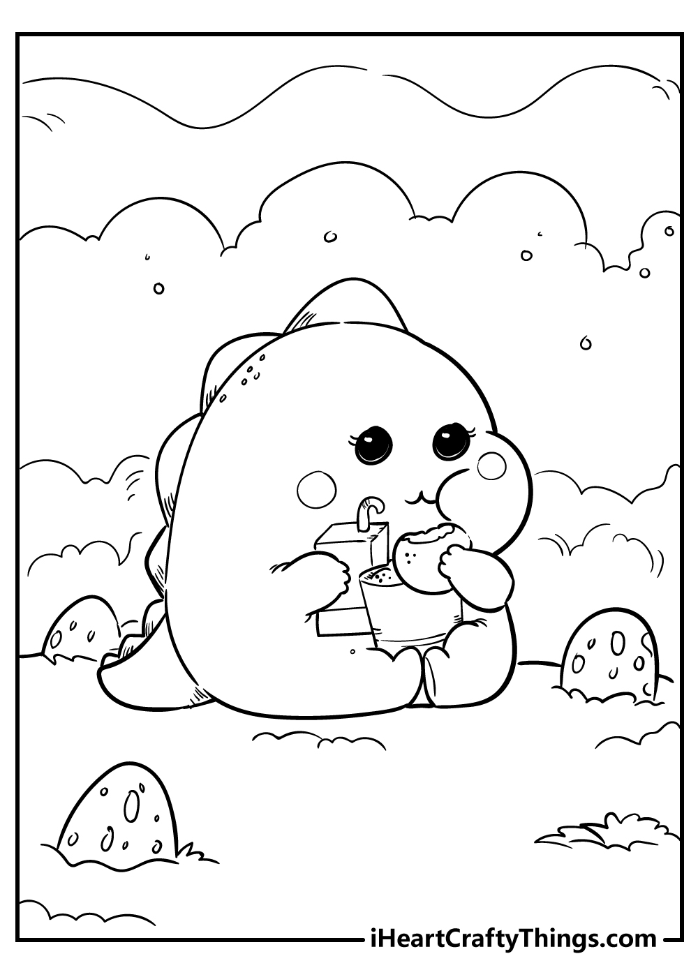 printable kawaii coloring pages animals free