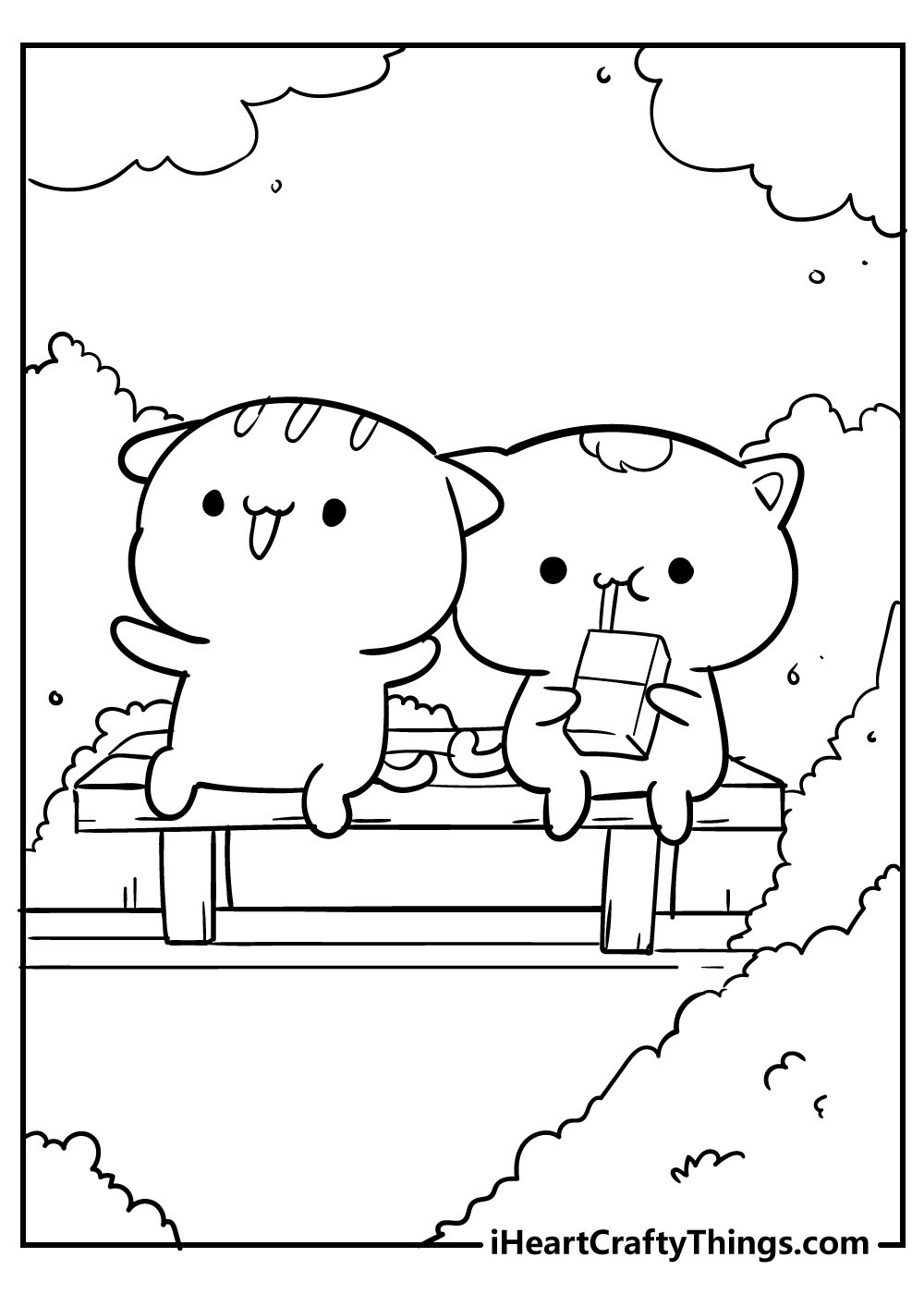 kawaii coloring pages kittens