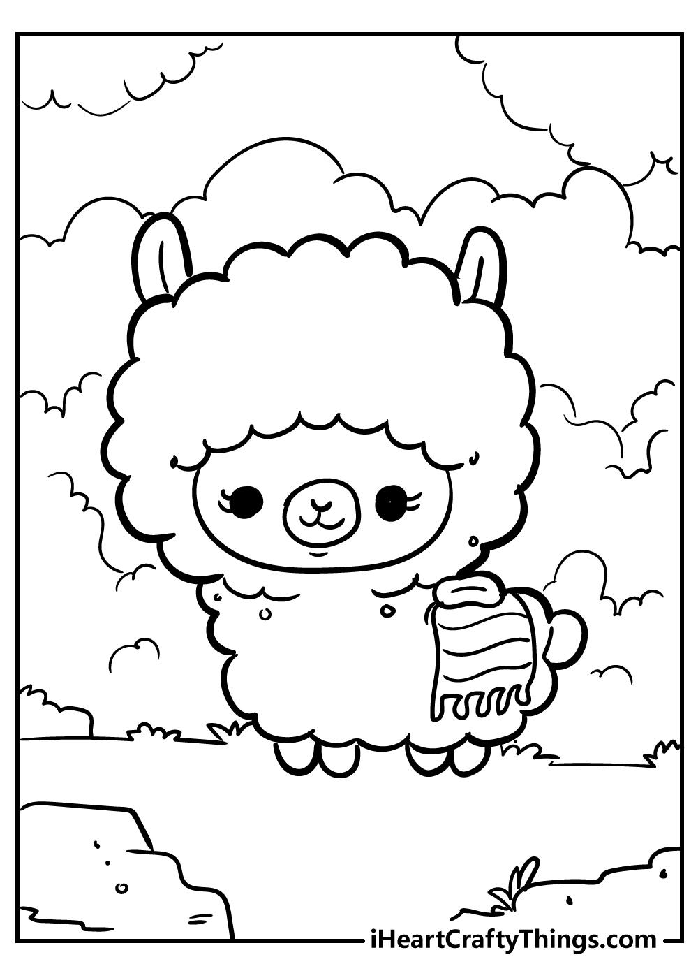 kawaii coloring pages sheep free download