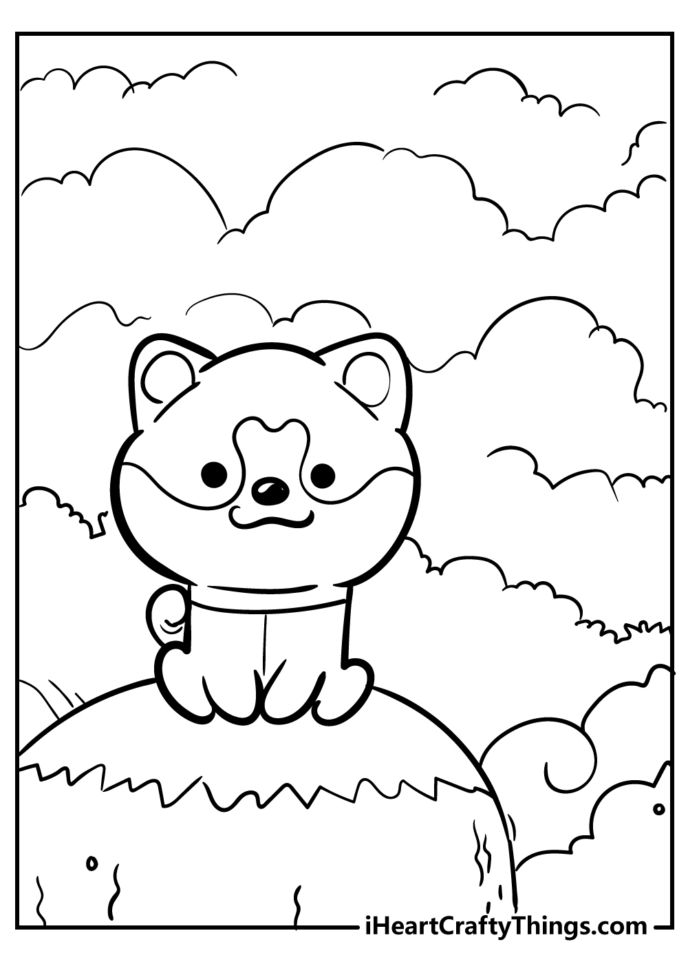 new kawaii coloring pages puppy easy free