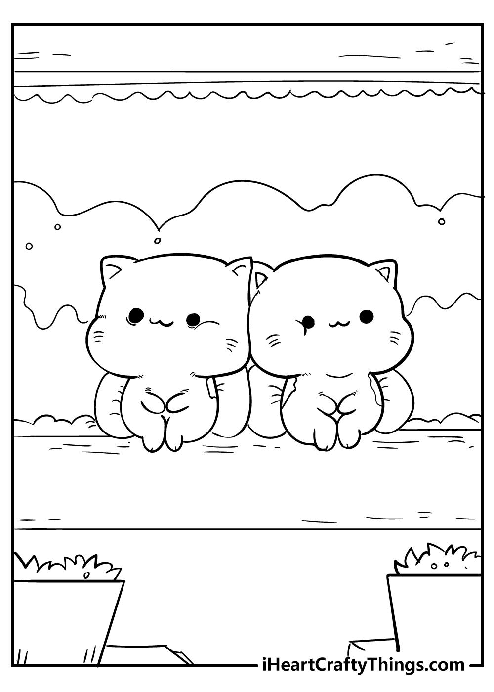 free printable kawaii coloring pages for kids