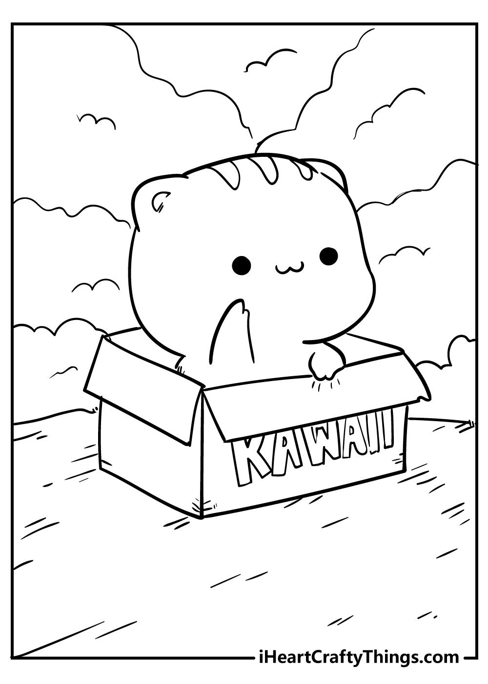 kawaii coloring pages girls