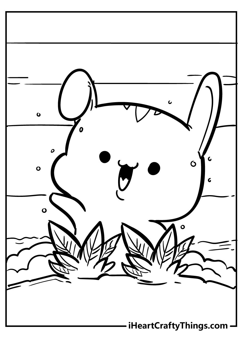 kawaii coloring pages printable hamster