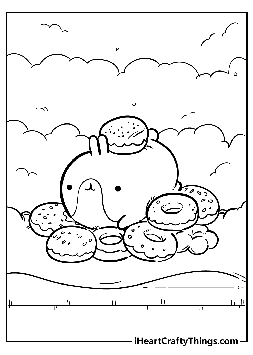 cute kawaii coloring pages for kids free printable