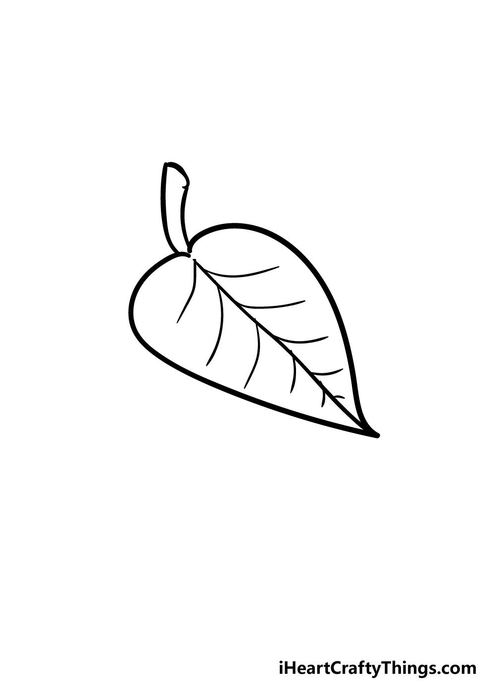 leaf drawing step 4