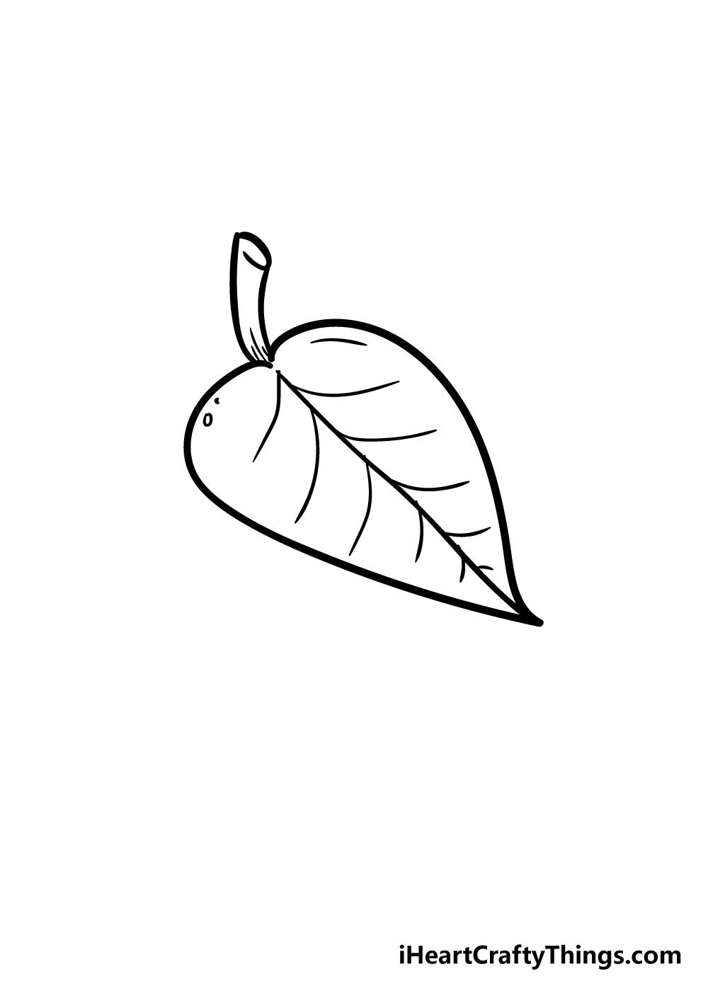 leaf drawing step 5