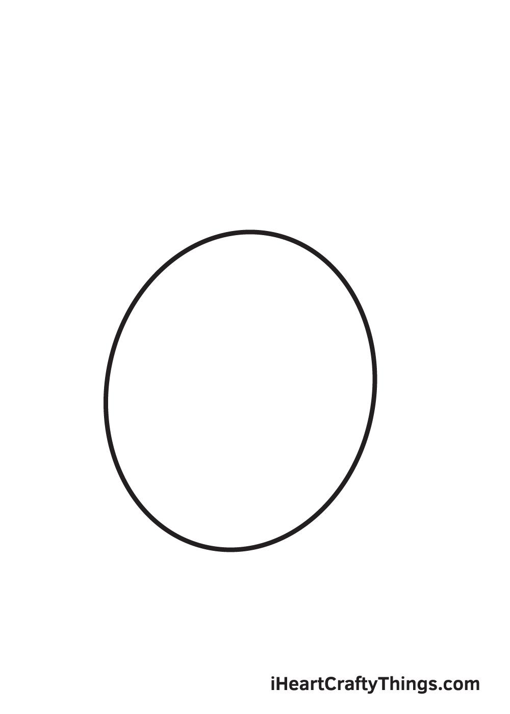 lemon drawing step 1