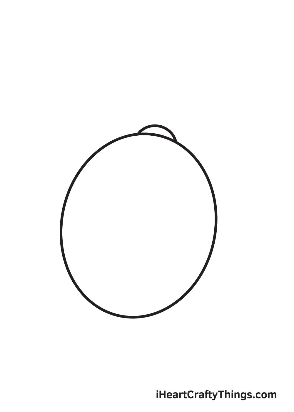 lemon drawing step 2