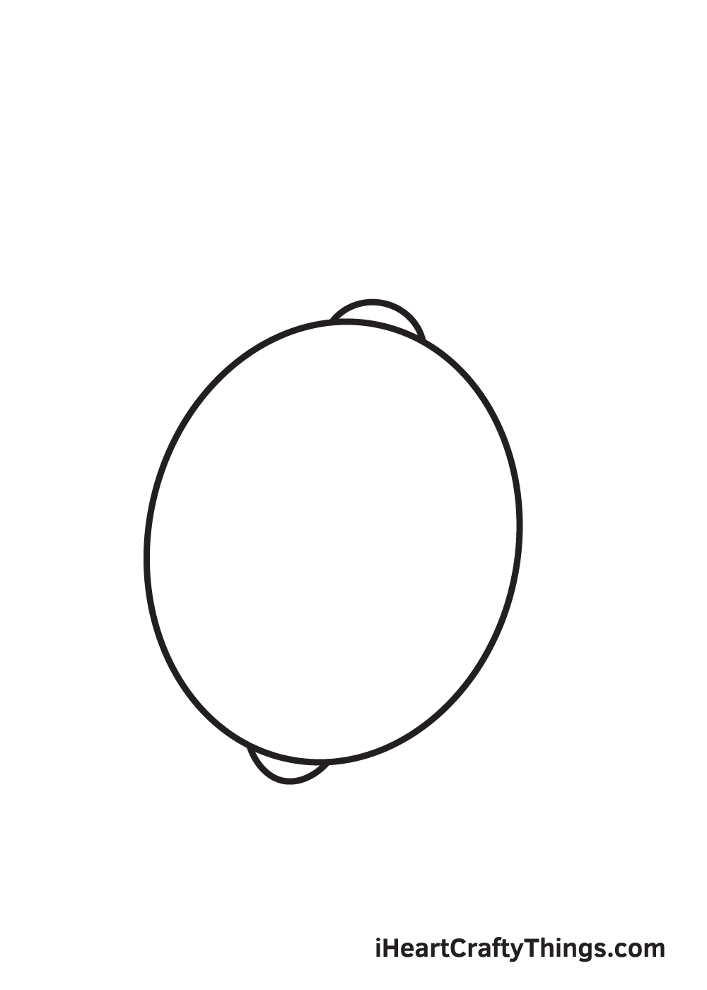 lemon drawing step 3