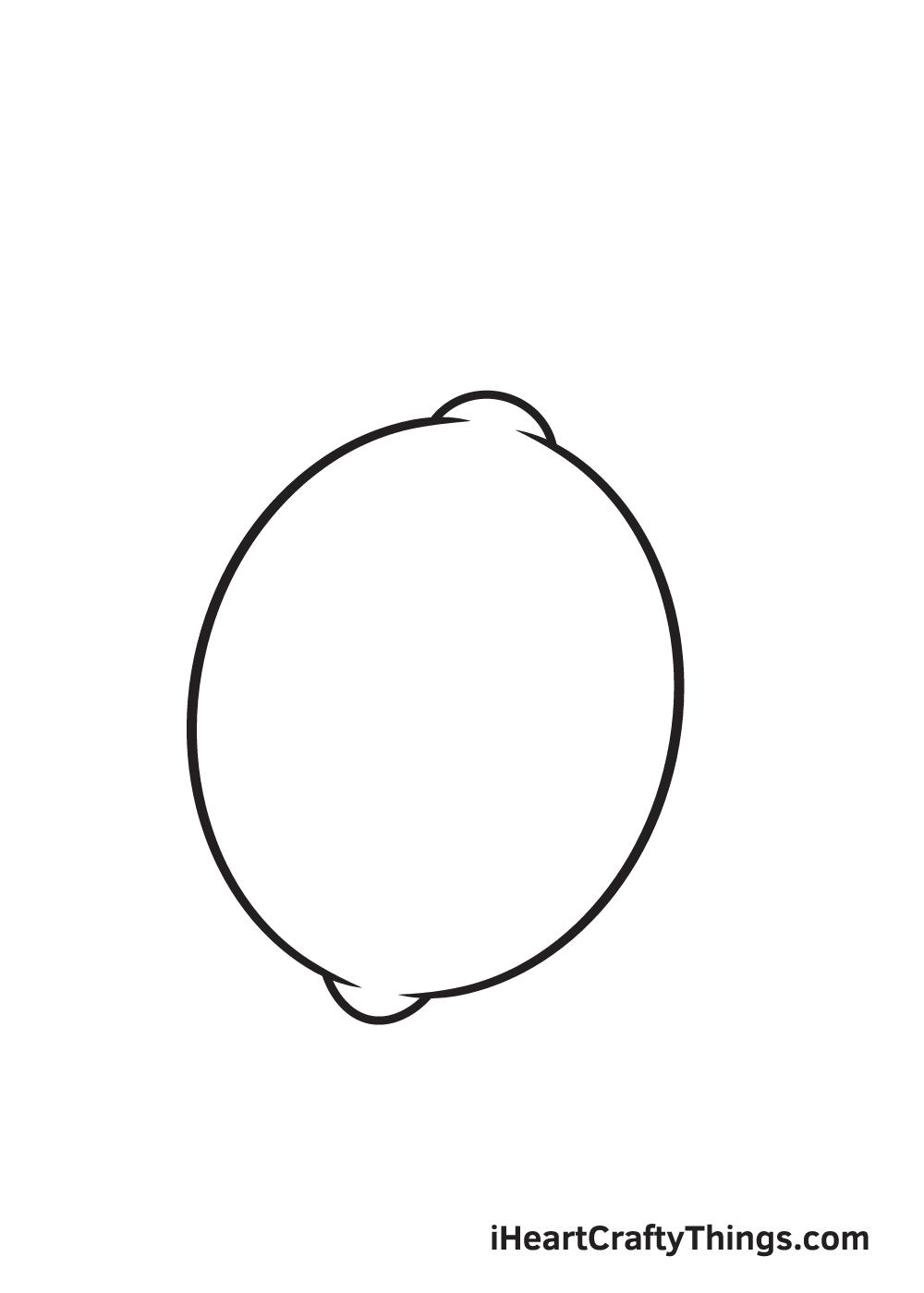 lemon drawing step 4