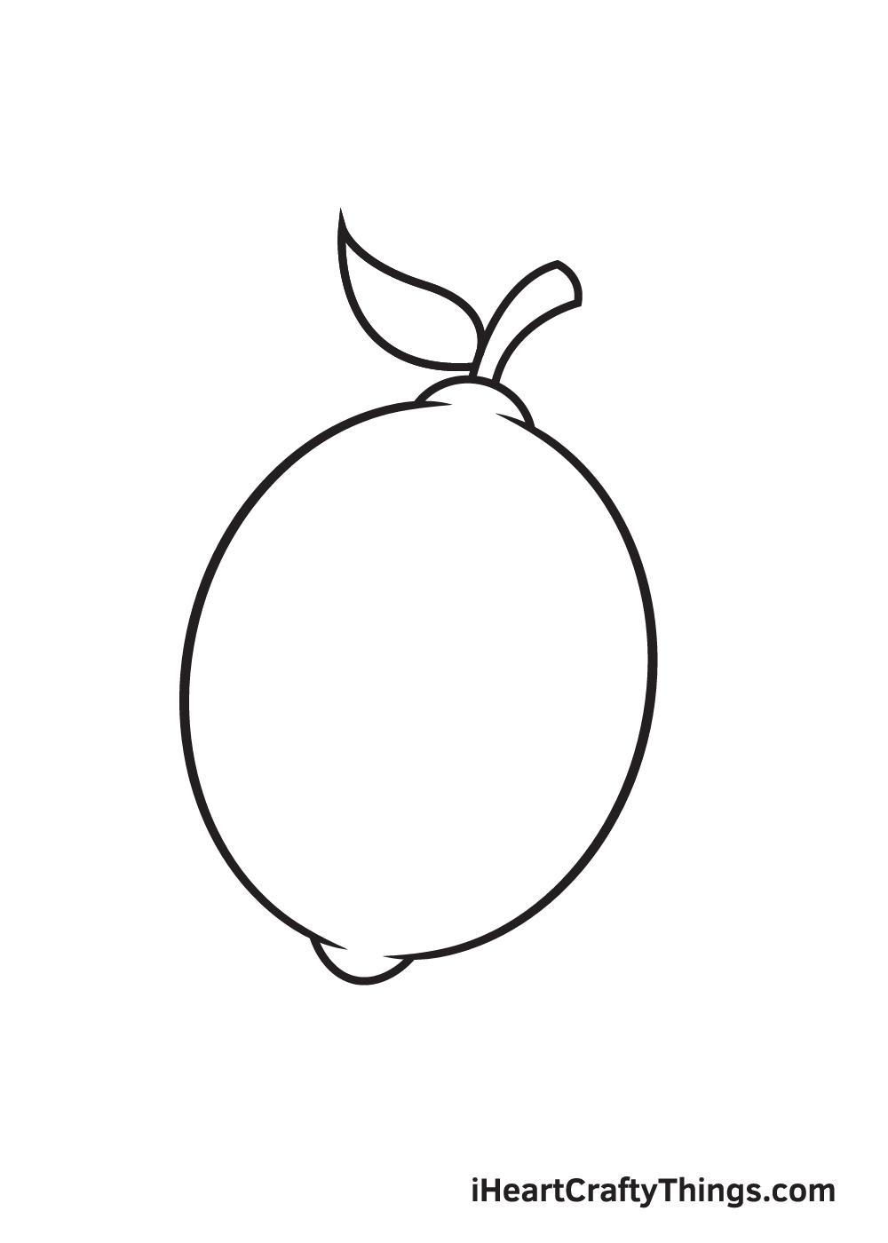 lemon drawing step 7