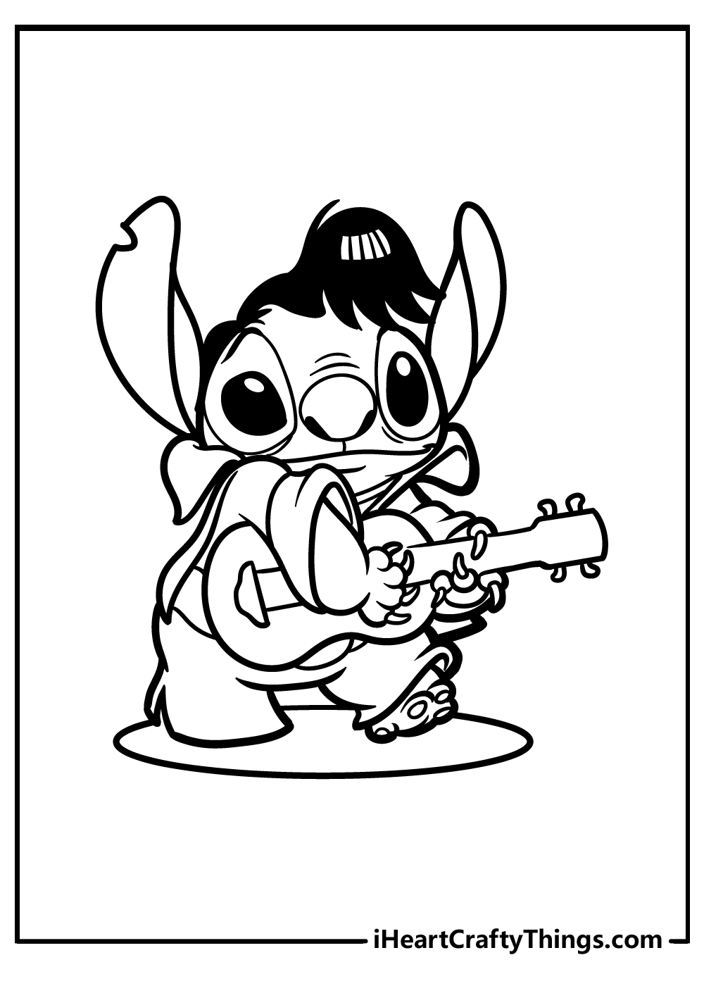 cute stitch coloring pages free printable