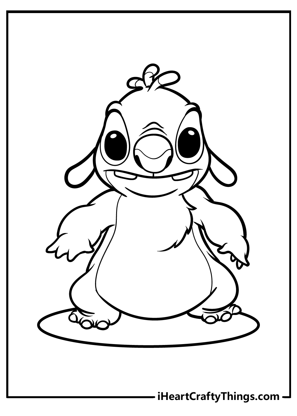 stitch colouring pages free printable