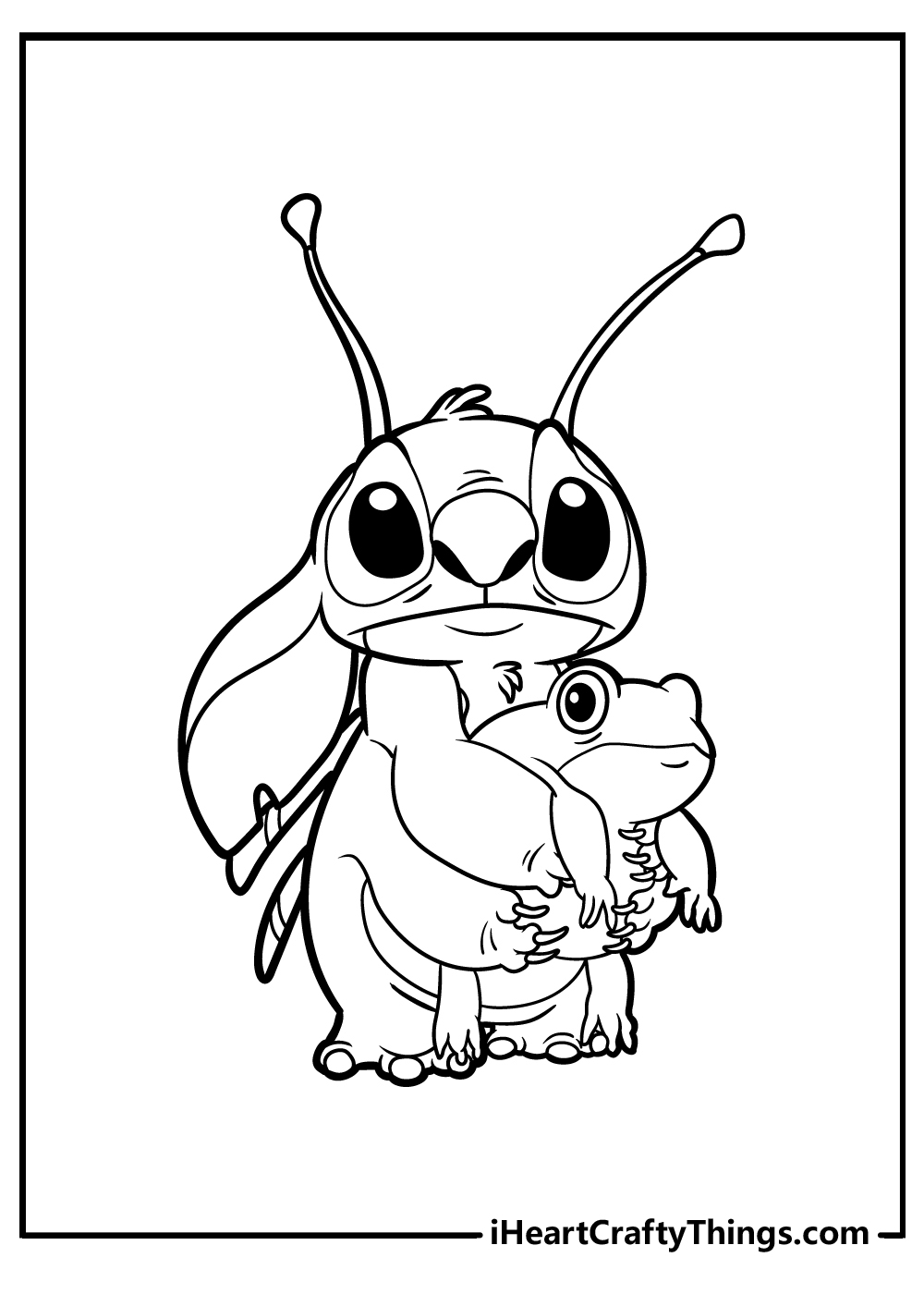 lilo and stitch colouring pages free download