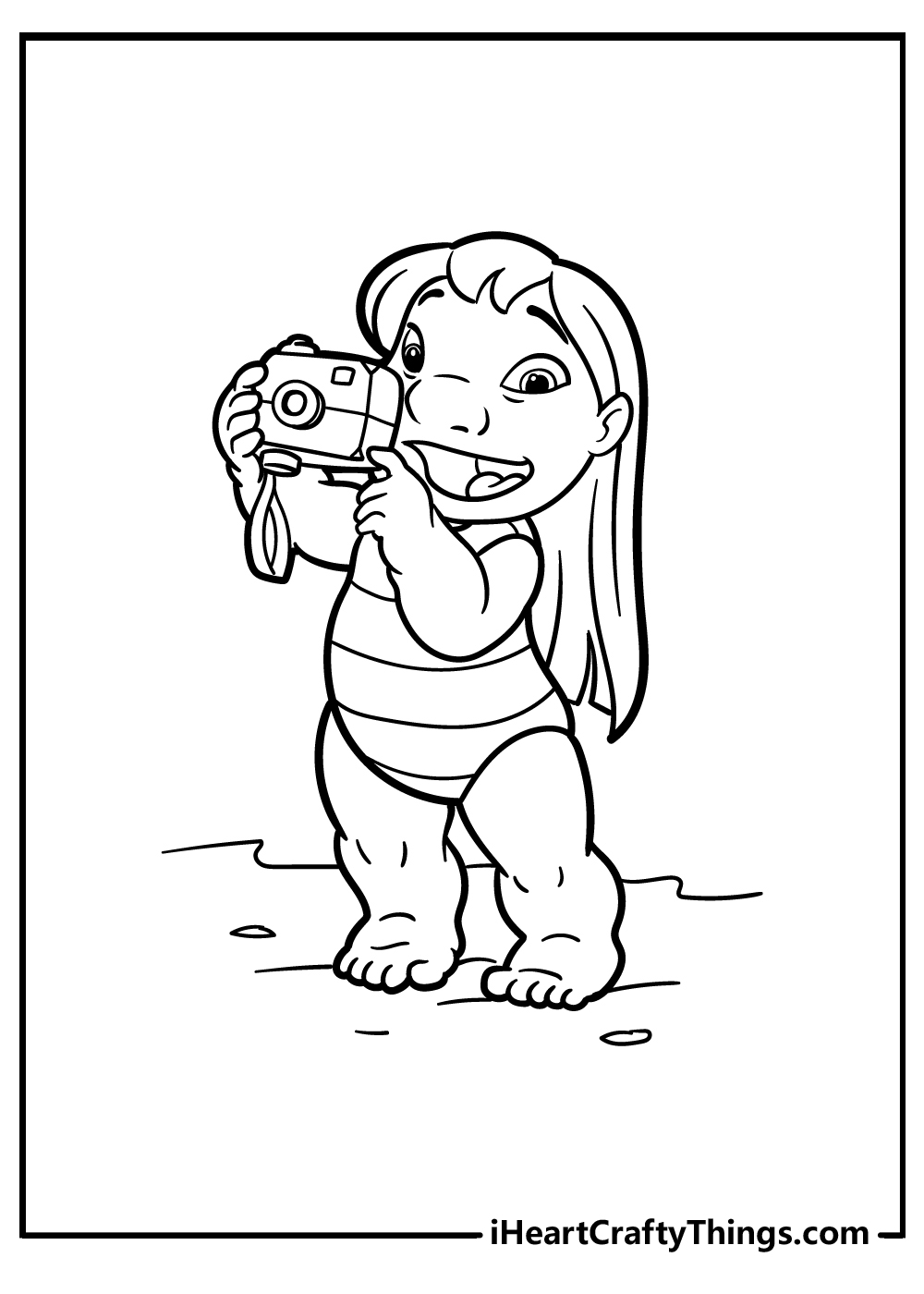 lilo&stitch colouring pages free download