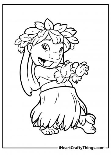 coloring pages lilo and stitch
