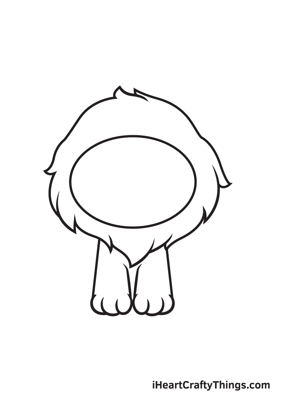 lion drawing step 3