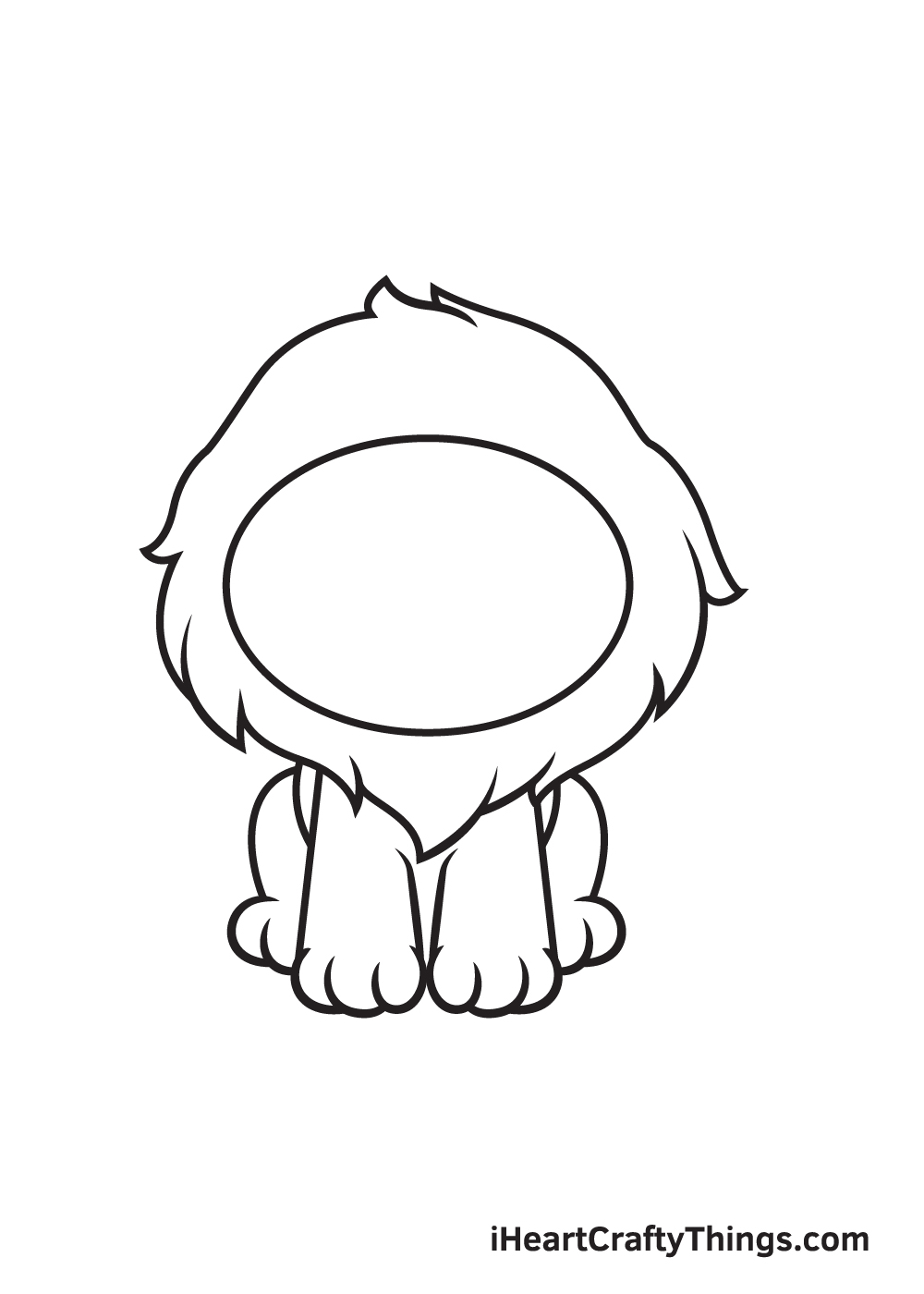 lion drawing step 4