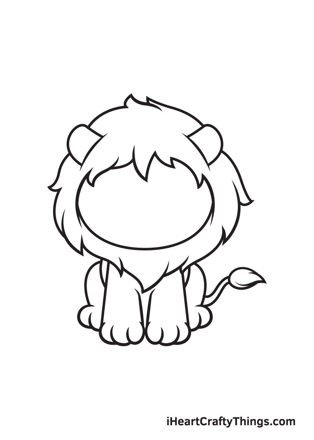 lion drawing step 7