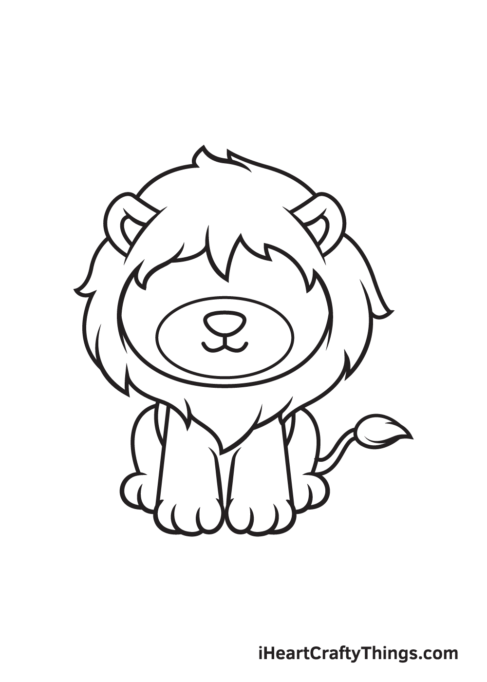 lion drawing step 8