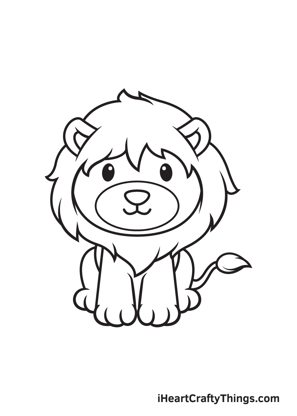 lion drawing step 9